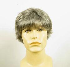 Perruque homme 100% cheveux naturel grise poivre et sel ref DANY 44