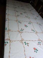 Nappe N07 coton imprimé 132X195 cm VINTAGE 60 Printed cotton TABLECLOTH Mantel