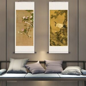 Chinese Ink Painting Wall Scrolls Calligraphy Hand Painted Hanging Artwork Decor