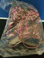 Ladies High Top Slipper Boot Runners Fleece Lined Floral Design size 4/5