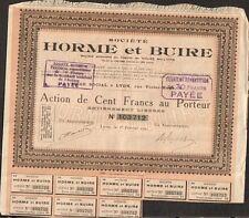 Etablissements de L'HORME & BUIRE 1921 (LYON) (P)