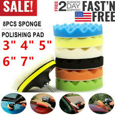 US! Car Buffing Pads Sponge Kit Polishing Buffer Set Waxing Foam Sealing Drill