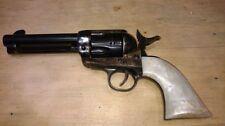Pietta 1873 smoke wagon Uberti Cattleman pistol grips pearl / gold leaf plastic