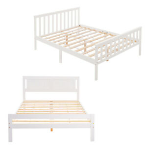 Wooden Bed Frame Single Double King Size Strong Solid Bedstead Bedroom Furniture