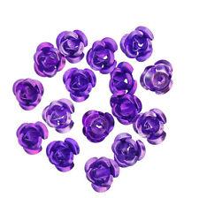 Hot 100pcs Rose Flower Aluminum Jewelry Making Spacer Beads 6mm For Bracelet