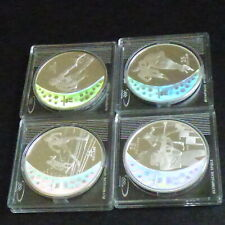 4 * Canada 25$ 2007/2009 Vancouver Olympic 2010 Hologram silver 92.5% (4*27.8g)