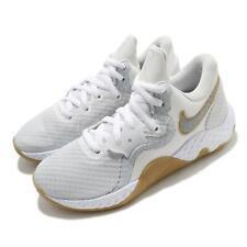 Nike renovar elevar II 2 Blanco Gris de goma hombres Mid Top Baloncesto Zapato CW3406-100