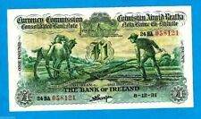 Rare Irish Ploughman £1 The Bank of Ireland Ltd 08.12.1931 XF/XF+