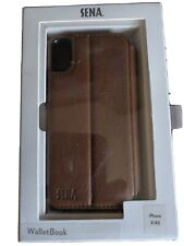 Sena Deen Walletbook Leather Iphone X/XS Case Brown BRAND NEW