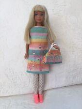Vintage Barbie Skipper Rare Platinum Doll 1963 and Rainbow Dress