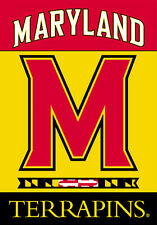University of MARYLAND TERRAPINS Official Team Logo Premium 28x40 House BANNER