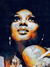 DIANA ROSS SUPREMES Mowtown Soul art print poster dipinto ad olio llff 0039