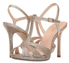 NWT & NWOB! Kate Spade Feodora Glitter Leather Sandals Heels Gold Sz 10 Org $198