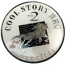 "Funny Joke Coin, ""Cool Story Bro""  Medallion, Heavy, Large 44mm"