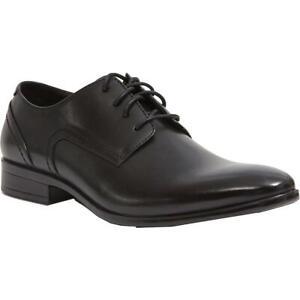Deer Stags Mens Shipley Black Leather Oxfords Shoes 11.5 Medium (D) BHFO 6130