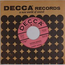 JOHNNY WRIGHT: Guitar Lessons / Don't Give Up DECCA DJ Kitty Wells NM- Country