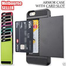 iPhone 5S / 5 / 5C 5SE Case,Slim Slide Card Pocket Hard Hybrid Cover for Apple