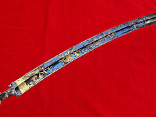 MAGNIFICENT ANTIQUE BLUE / GOLD BLADE for American Eagle Head Sword EARLY 19c #2