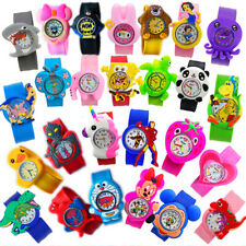 KIDS WATCH silicon SLAP ON wrist cartoon children bracelet UK sports Birthday