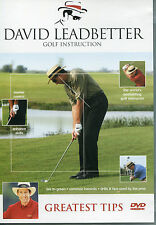 DAVID LEADBETTER GOLF INSTRUCTION DVD - GREATEST TIPS - TEE TO GREEN & MORE