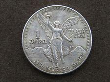 1986 1 oz Mexican Libertad Round Coin 1 Onza Plata Pura .999 Pure Silver Mexico
