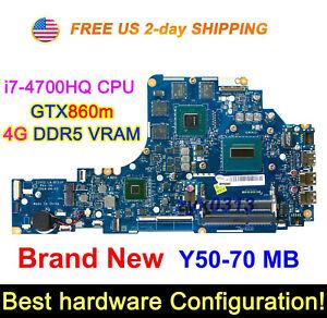 New Lenovo Y50-70 ZIVY2 LA-B111P i7-4700HQ CPU GTX860m GPU 4G VRAM Motherboard