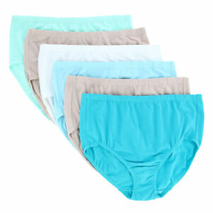 New Fruit of the Loom Women's Plus Size Cotton-Mesh Brief Underwear (6 Pack)
