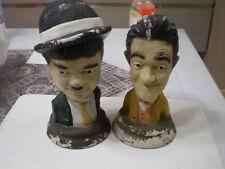 Stanlio e Ollio Stan Lauren Oliver Hardy statue ritratti in gesso