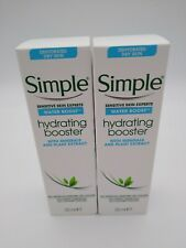 2 x Simple Hydrating Booster 25ml Each Water Boost Sensitive Skin Face Care