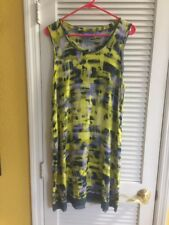 Simply Vera Wang Yellow Tie Dye TUNIC DRESS/TOP XL