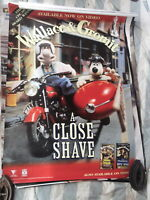WALLACE & GROMMIT A CLOSE SHAVE USED 1 SHEET  AUST VERSION DVD MOVIE POSTER