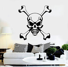 Wall Stickers Vinyl Decal Skull and Bones Pirate Symbol Jolly Roger (ig642)
