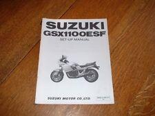 SUZUKI GSX1100 ESF SET-UP MANUAL.1984