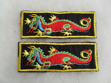 PAIR NAM ERA USN LIBERTY CUFF PATCHES DRAGON DESIGN BOTH FACE VIEWERS RIGHT