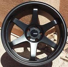 """18"""" MiRO 398 Wheels For Subaru WRX EVO 18X9.5 +20 5x114.3 Black Rims Set of 4"""