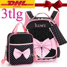 3tlg Mädchen Schulranzen Schulrucksack Kinder Rucksack  Handtasche Beutel Set