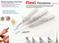 Dental Flex Periotome kit Extraction Screw Periodontal Implant Instruments 5Pcs