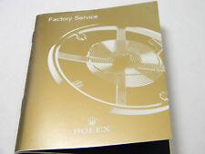 2009 Rolex Factory Service Booklet, Book, Manual