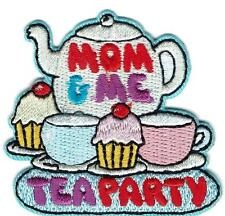 boy girl MOM & ME TEA PARTY Day Fun Patches Crests Badges GUIDES SCOUTS Cub and