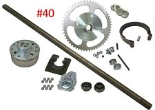 Complete Go Kart Rear Live Axle Kit Off-Road Go Cart Parts with #40 54T Sprocket