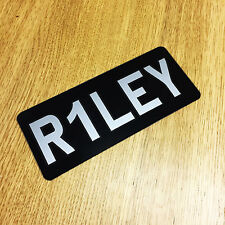 Personalised Kids Number Plates - Any Name Childrens Toy Car Plastic Reg Plates