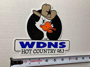 WDNS Hot Country 98.3 FM Decal Bumper Sticker Sheriff Duck Louisville KY 1995