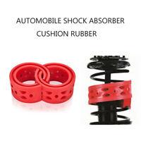 2x Car Shock Absorber Spring Bumper Buffer Power Cushion Coil Damper C-Type Red