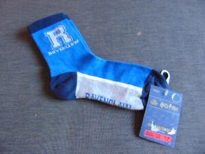 M&S Harry Potter Socks 1 Pr Ravenclaw or Slytherin UK 12.5-3.5 or 4-7 Multi BNWT