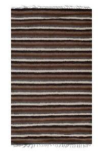 "1960s Vintage Washed Out Turkish Karapinar Rug With Floral Design 5'11"" X 8'6"""