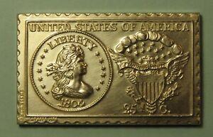1804 United States U.S. Liberty Draped Bust Quarter Dollar Numistamp Medal 1974