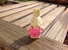 GOMMA CONIGLIO-RABBIT Eraser-Pink Overalls (Party Bag Toys, gifts)