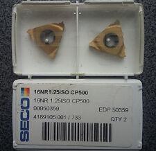 Lastre di svolta 2 x svolta taglio dischi seco 16nr 1.25iso cp500 Carbide inserts