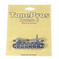 TonePros T3BT-C Metric Locking Bridge, Large Posts, Chrome