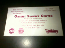 Bill Hands Business Card Chicago Cubs Pitcher Orient Point NY Gas Station Rare